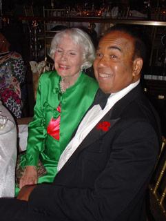 Jean Bach with her pal Bobby Short credit:  newyorksocialdiary.com