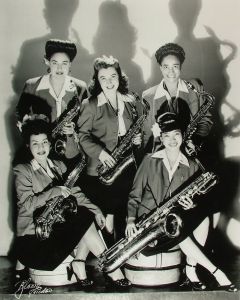 Sax section, International Sweethearts of Rhythm credit:  thegirlsintheband.com