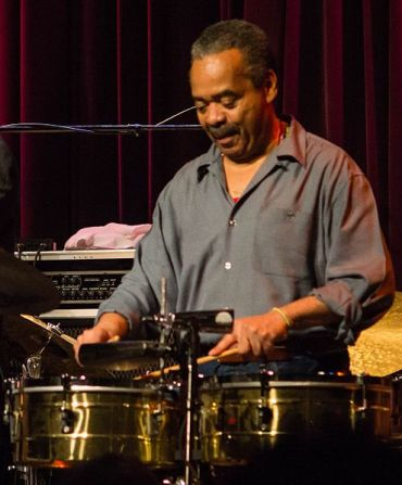 Steve Berrios plays timbales at Seattle's Jazz Alley, 2012