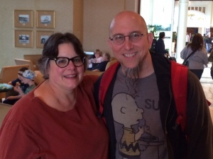 Robin with Jeff Coffin